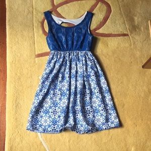 Blue lacy dress